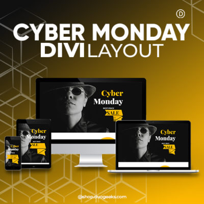 Divi Cyber Monday Layout