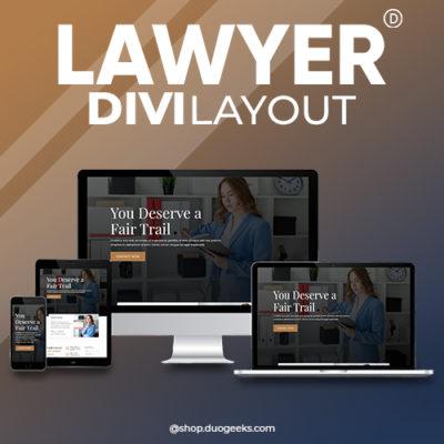 Divi Lawyer Layout Elegant