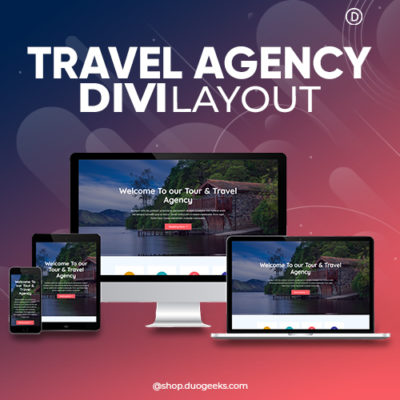 Divi Travel Agency Layout