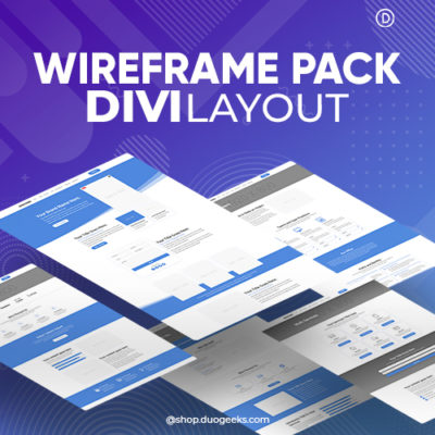 Divi Wireframe Layout