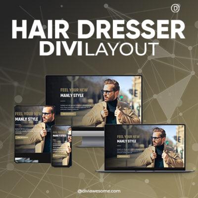 Divi Hairdresser Layout