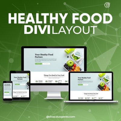 Divi Healthy Food Layout