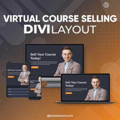 Divi Virtual Course Selling Layout