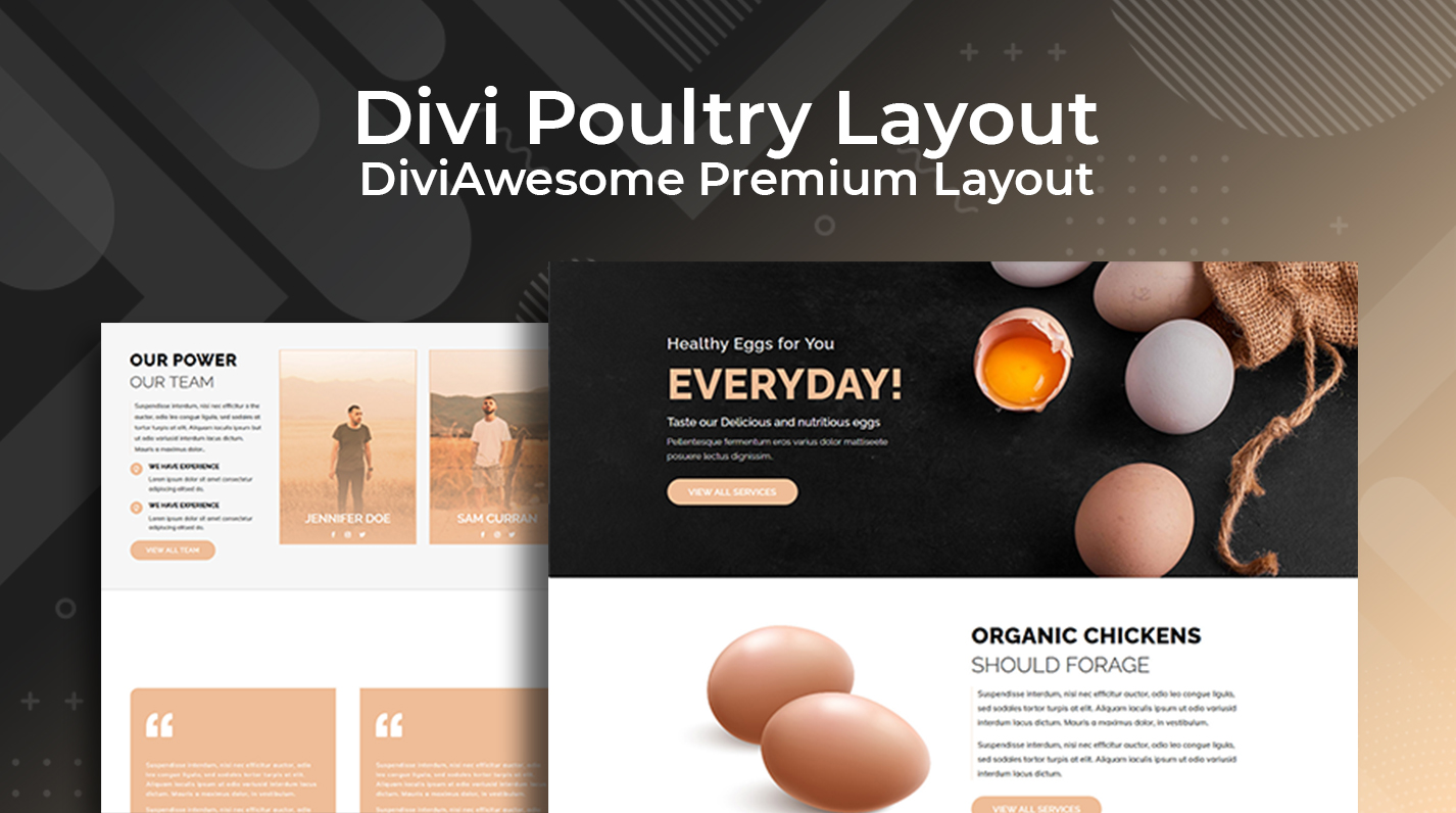 Divi Bakery Layout