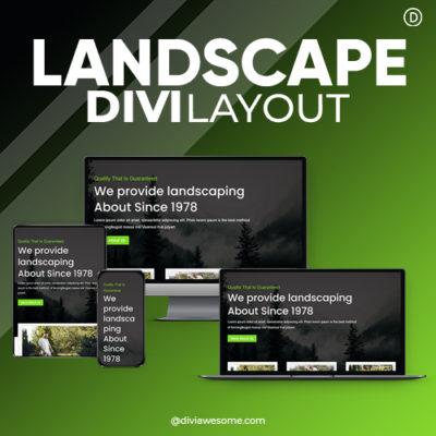 Divi Landscape Layout