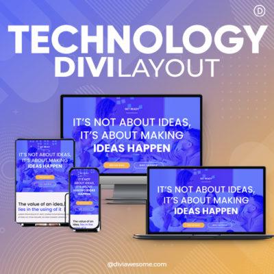 Divi Technology Layout